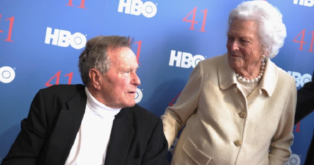 George and Barbara Bush in 2012.