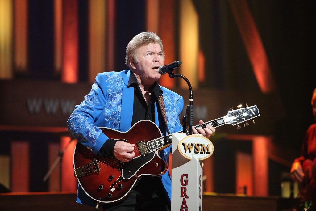 Roy Clark performs during the Grand Ole Opry 85th birthday bash at the Grand Ole Opry House on October 9, 2010 in Nashville, Tennessee.
