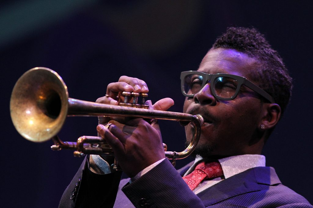 Roy Hargrove performs at the 2013 Thelonious Monk International Jazz Saxophone Competition at The John F. Kennedy Center for Performing Arts