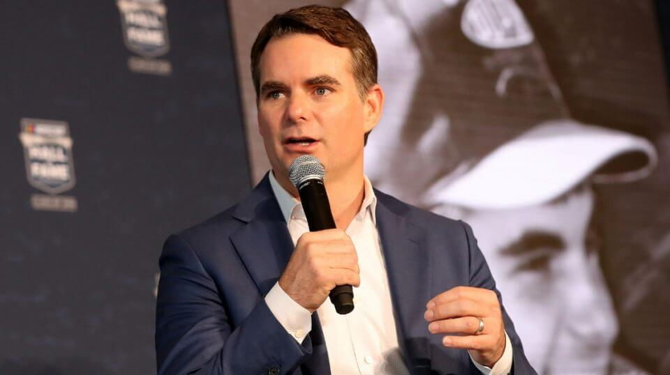 Jeff Gordon is announced as a 2019 NASCAR Hall of Fame inductee May 23 in Charlotte, North Carolina.
