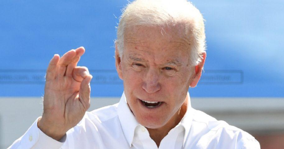 Former Vide President Joe Biden at a dais in October.