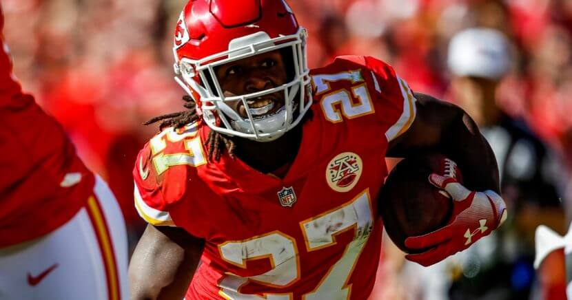 Former Kansas City Chiefs running back Kareem Hunt.