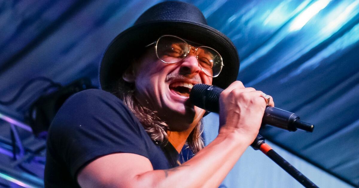 Kid Rock performs in Louisville, Kentucky, on May 4.