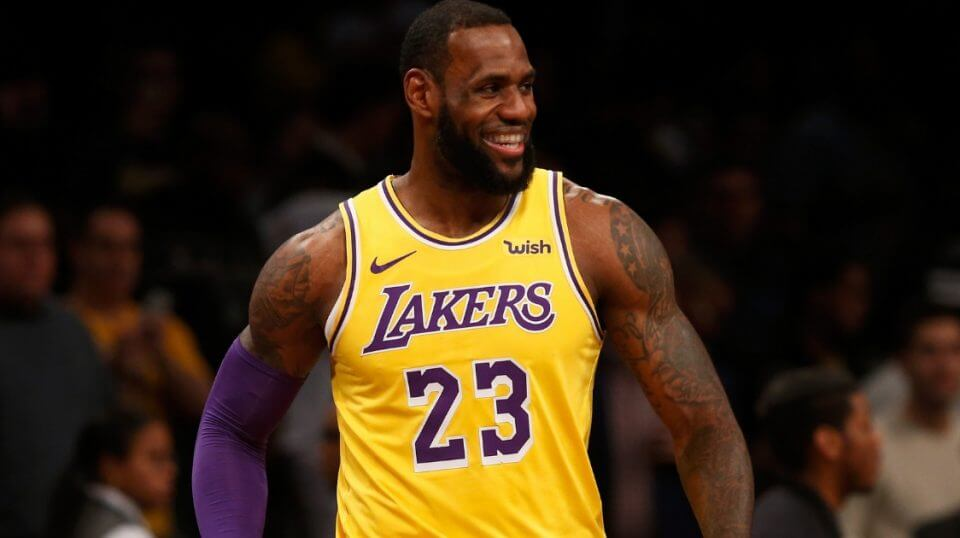LeBron James of the Los Angeles Lakers in action against the Brooklyn Nets at Barclays Center on Dec. 18, 2018, in the Brooklyn borough of New York City.