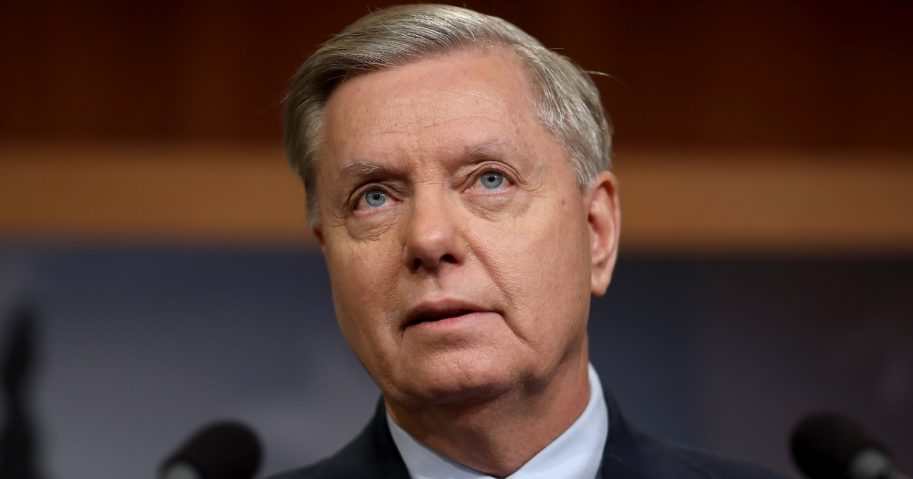 Sen. Lindsey Graham (R-S.C.) speaks during a media conference at the U.S. Capitol on Dec. 20, 2018 in Washington, D.C.