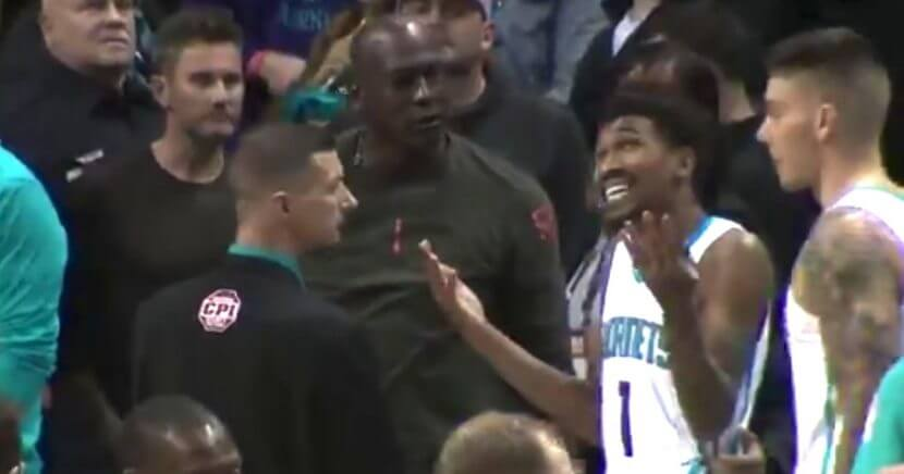 Charlotte Hornets owner and NBA legend Michael Jordan wasn't happy with Malik Monk's premature celebration.
