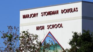 The Marjory Stoneman Douglas High School in Parkland, Florida on April 25, 2018.