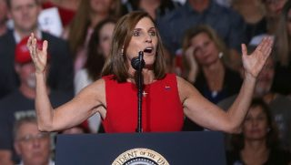 U.S. Rep. Martha McSally is pictured during her unsuccessful campaign for Senate in an Oct. 19 file photo.