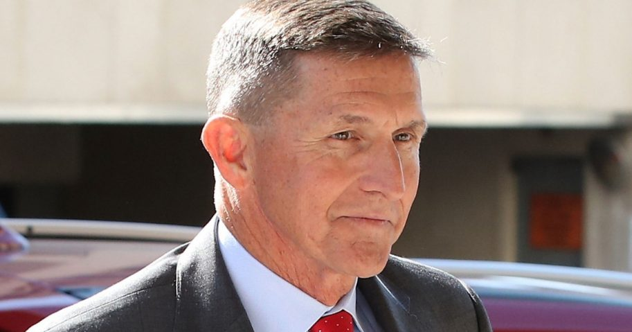 Michael Flynn, former national security adviser to President Donald Trump, arrives at the E. Barrett Prettyman Federal Courthouse in Washington for a hearing July 10.