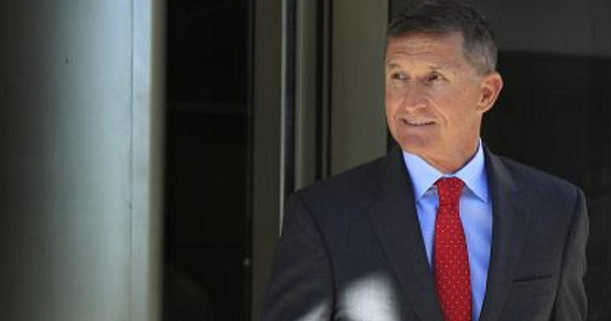 Retired Army Gen. and former National Security Advisor Michael Flynn is pictured leaving a federal courthouse in Washington in July.