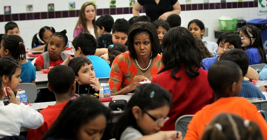 Michelle Obama school lunch