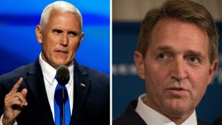 Mike Pence and Jeff Flake