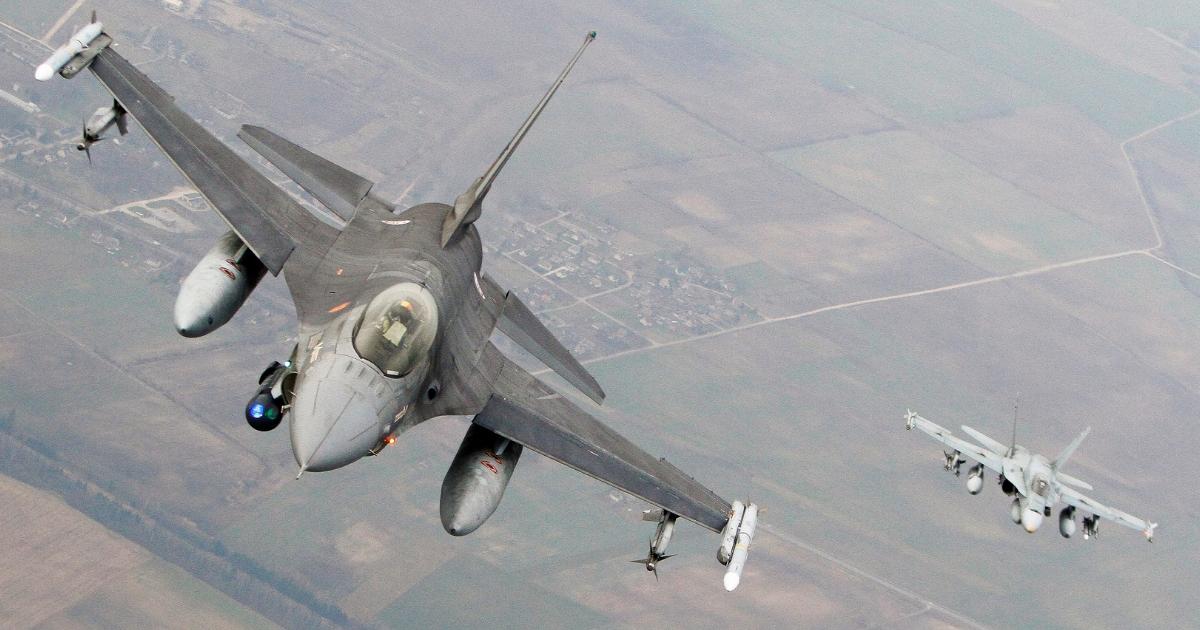 NATO fighter jet.