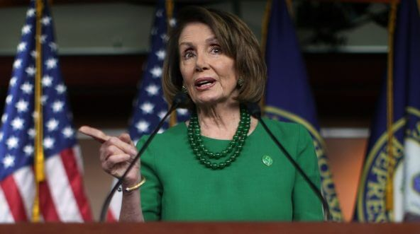 House Minority Leader Nancy Pelosi speaks Thursday during her weekly news conference in Washington.