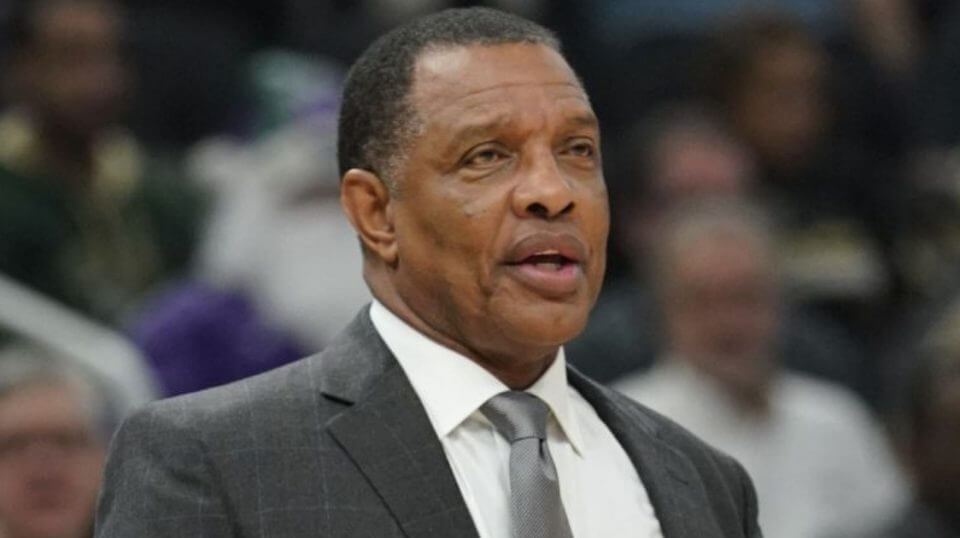 New Orleans Pelicans head coach Alvin Gentry reacts during the first half of an NBA basketball game against the Milwaukee Bucks on Wednesday in Milwaukee.