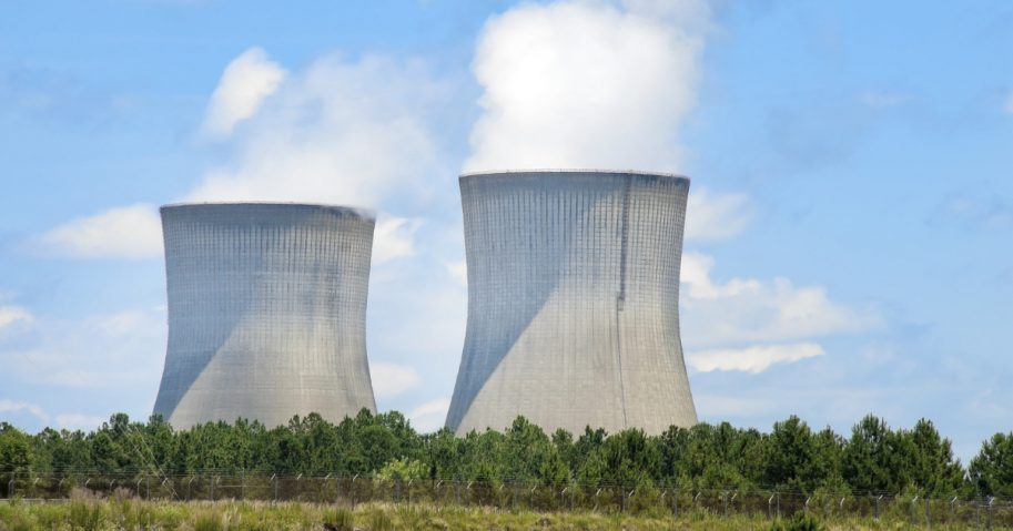 The cooling towers at the Vogtle nuclear plant in Georgia.