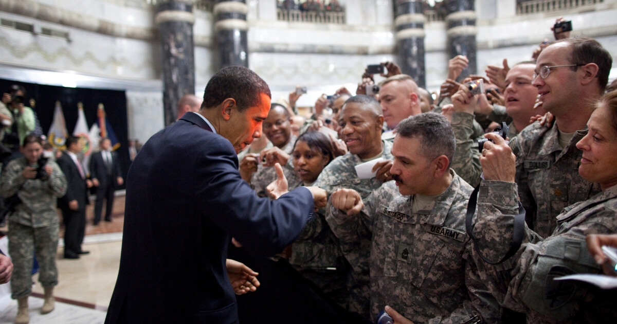 Obama and troops