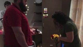 Paralyzed Man Stands to Propose