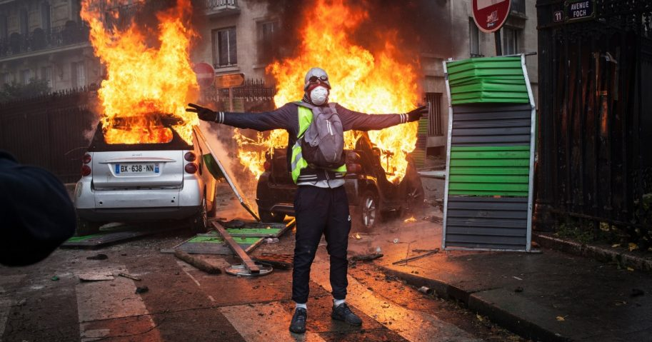 Paris rioter