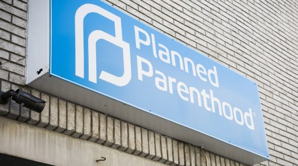 The sign above the entrance to a Planned Parenthood clinic in Newton, New Jersey.
