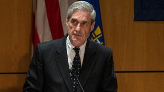 Robert Mueller at a podium.