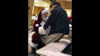 Santa bows to vet