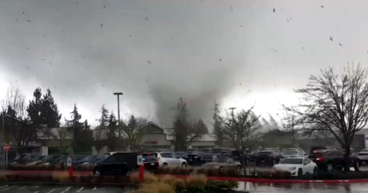 A rare tornado hitting near Seattle