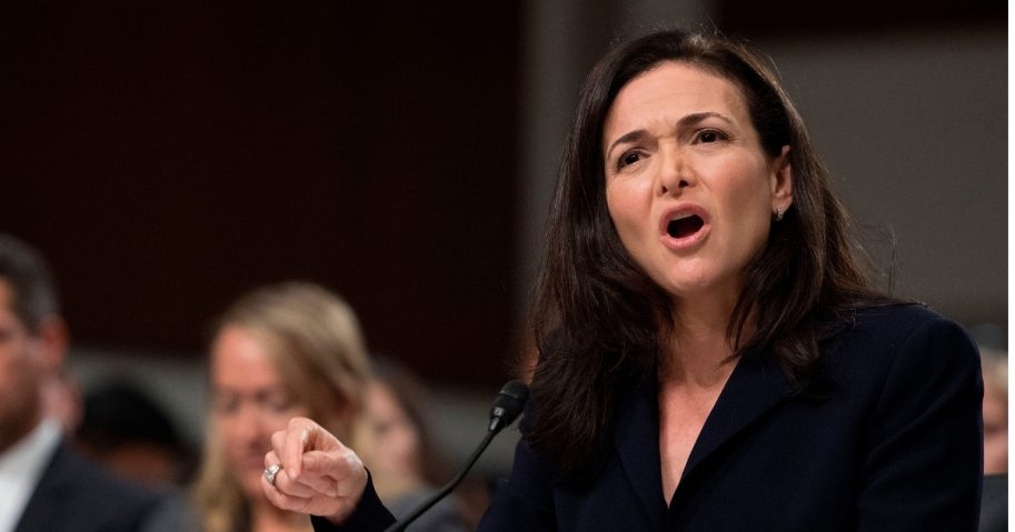 Facebook COO Sheryl Sandberg testifies before the Senate Intelligence Committee.
