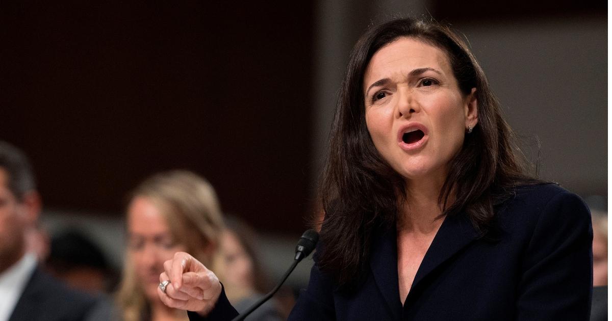 Facebook COO Sheryl Sandberg testifies before the Senate Intelligence Committee.