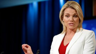State Department spokeswoman Heather Nauert speaks during a briefing at the State Department in Washington, D.C., on Aug. 9, 2017.