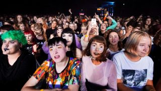 Women attend the Statement Festival at Bananpiren in Gothenburg, Sweden, on Aug. 31, 2018.