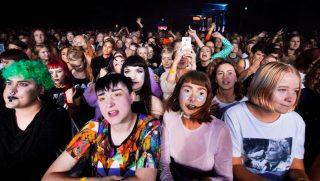 Women attend the Statement Festival at Bananpiren in Gothenburg, Sweden, on Aug. 31, 2018.