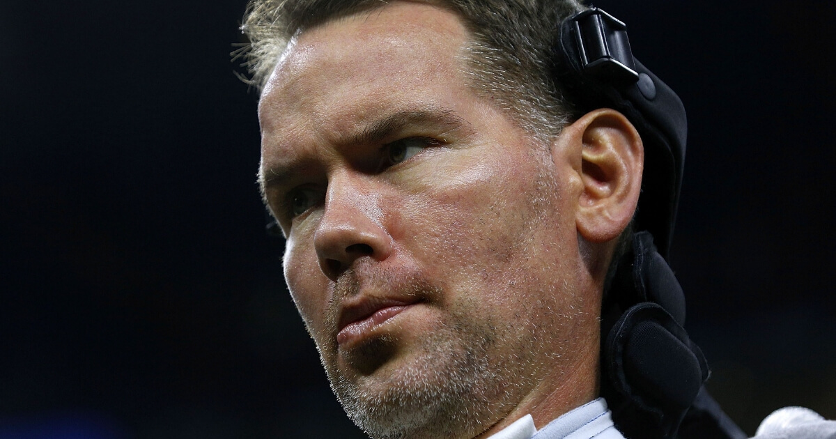 Former New Orleans Saints defensive back Steve Gleason, who suffers from ALS, attends a Saints game against the Atlanta Falcons at Mercedes-Benz Superdome on Sept. 26, 2016.