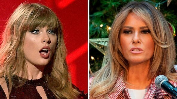 "Singer Taylor Swift, left, and first lady Melania Trump are among those attacked in The Root's ""Wypipo Awards."""