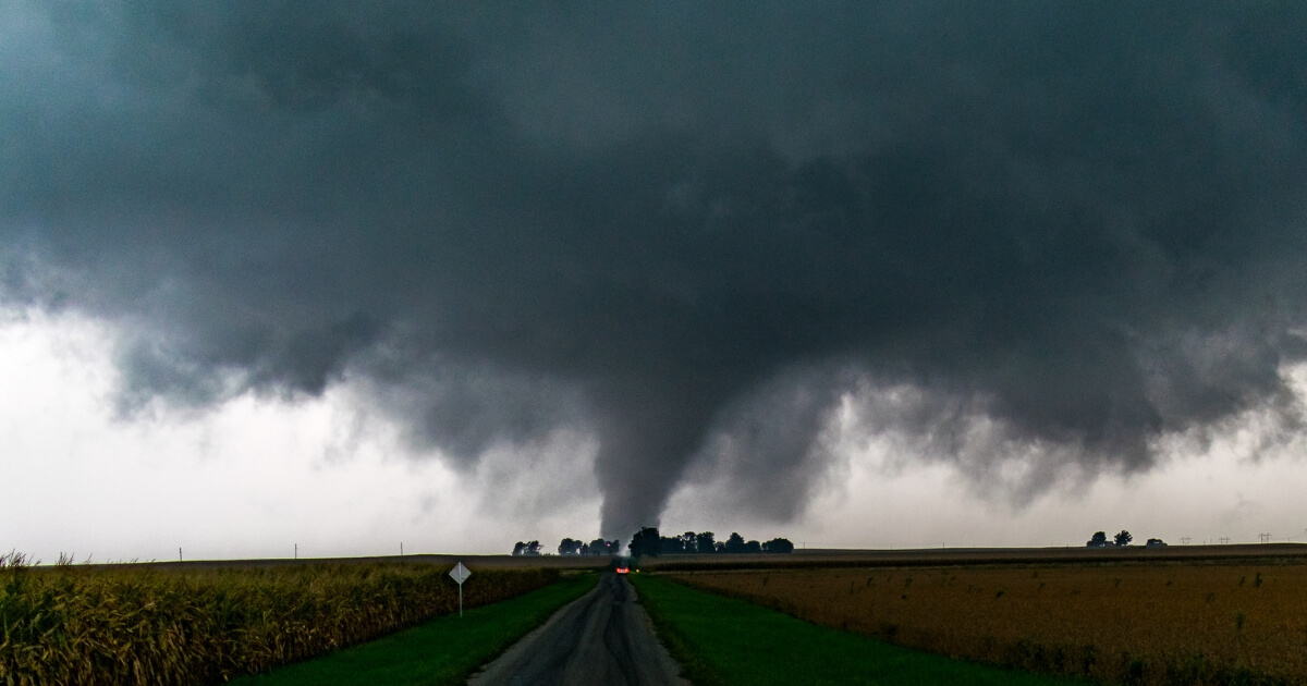 A tornado is seen in Homer, Illinois, on Sept. 9, 2016.