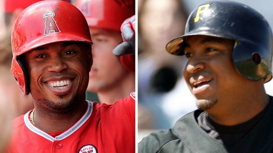 Former MLB players Luis Valbuena, left, and Jose Castillo, were killed in a car crash in Venezuela.