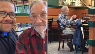 An elderly man is given Arby's for life.