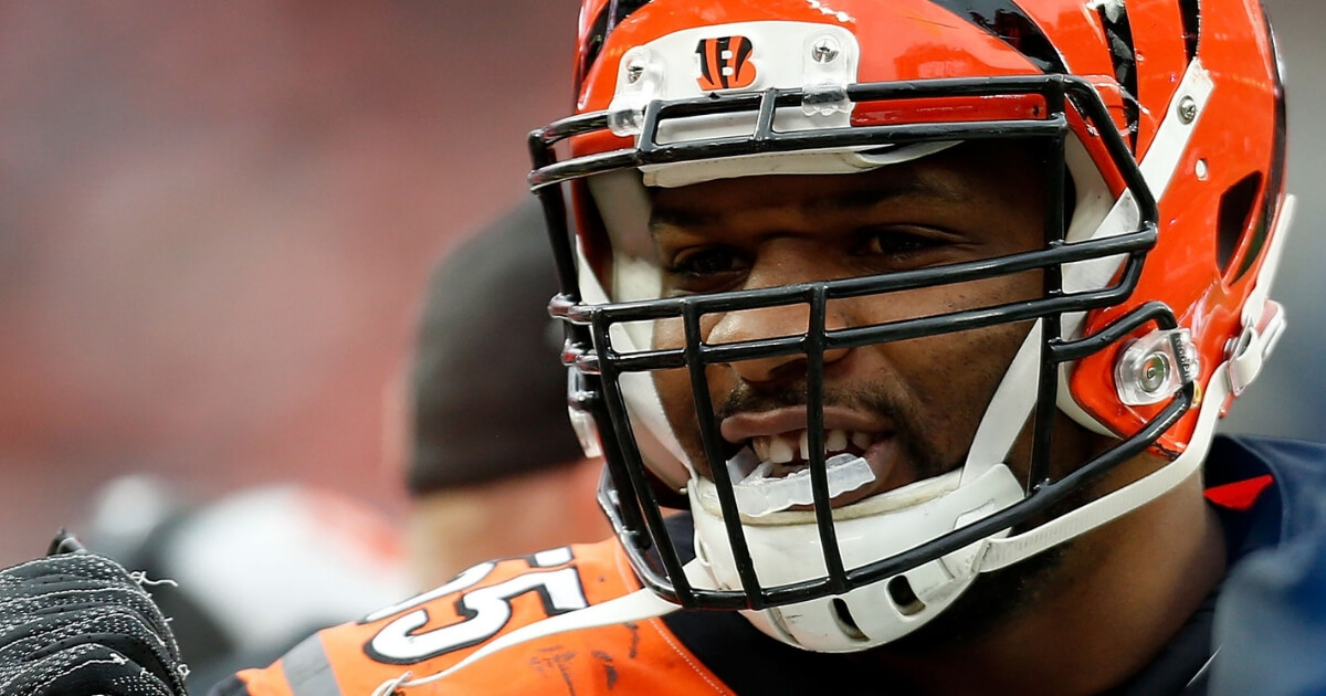 Vontaze Burfict of the Cincinnati Bengals stands on the sideline during Sunday's game against the Cleveland Browns at FirstEnergy Stadium.