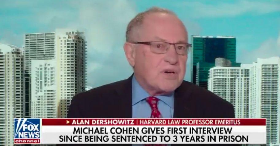 "constitutional lawyer Alan Dershowitz discusses Michael Cohen interview on ""America's Newsroom"""