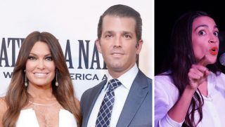 Kimberly Guilfoyle, Donald Trump Jr and Alexandria Ocasio-Cortez