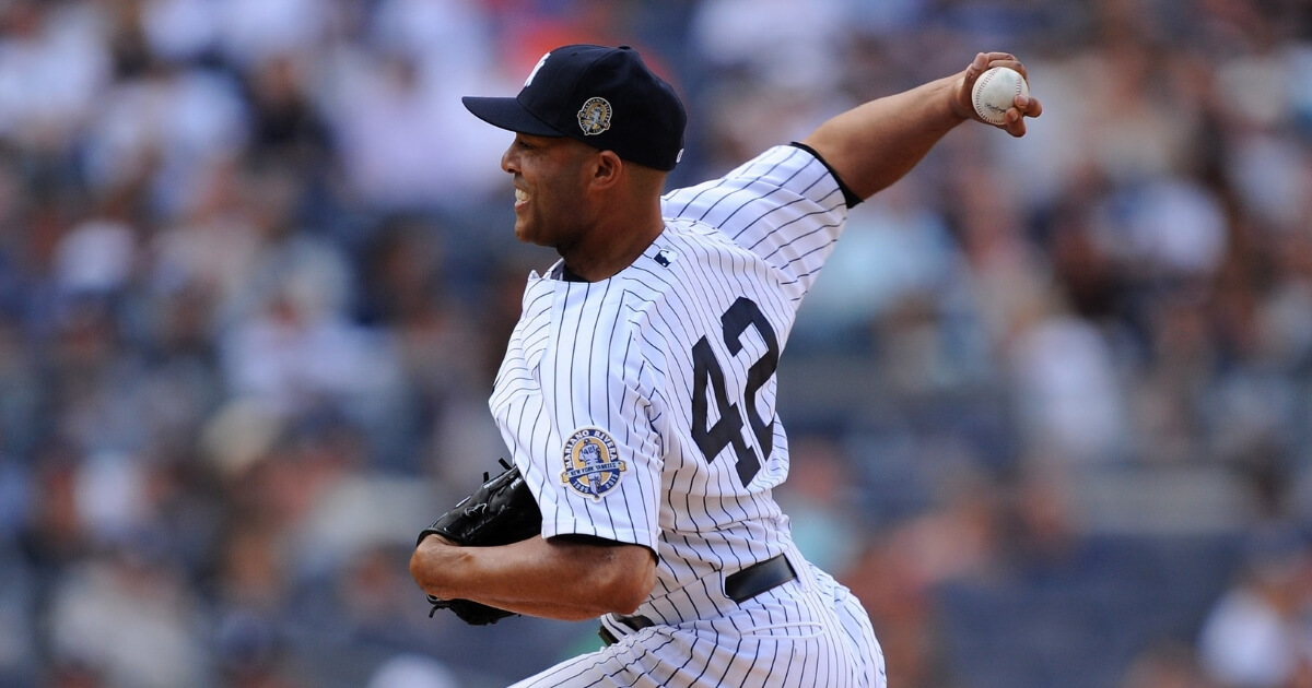 Mariano Rivera pitches during the 2013 season