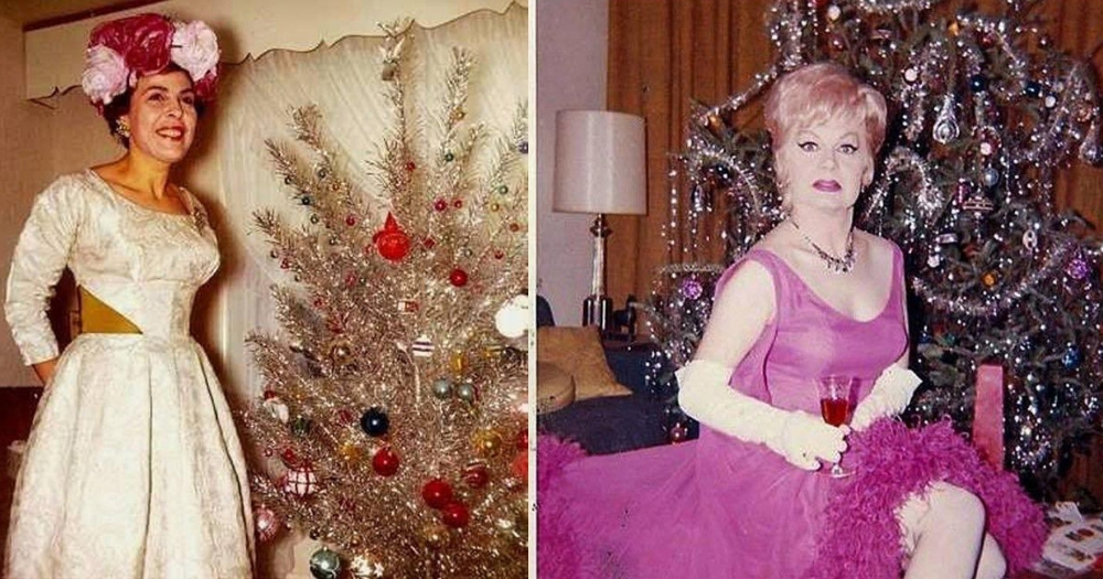 Posing by the Christmas Tree Used To Be the 'Bee's Knees' According to This Viral Photo Album