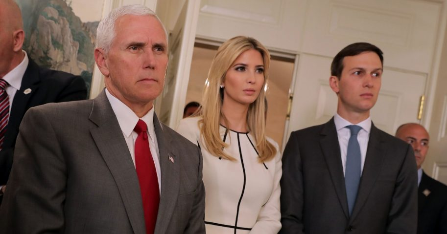 Mike Pence, Ivanka Trump, Jared Kushne