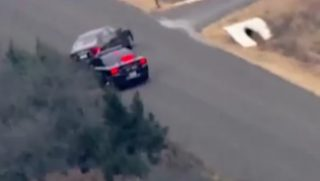 A police chase ended in Oklahoma thanks to a gutsy maneuver by authorities.