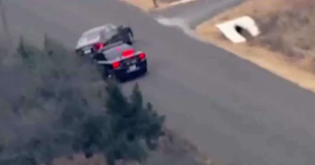 Helicopter Footage Captures Expert Takedown Maneuver from Local PD on Fleeing Suspect