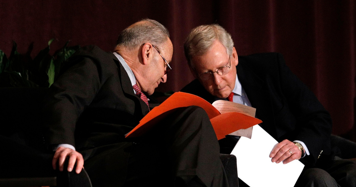 Senate Majority Leader Mitch McConnell and Senate Democratic Leader Chuck Schumer
