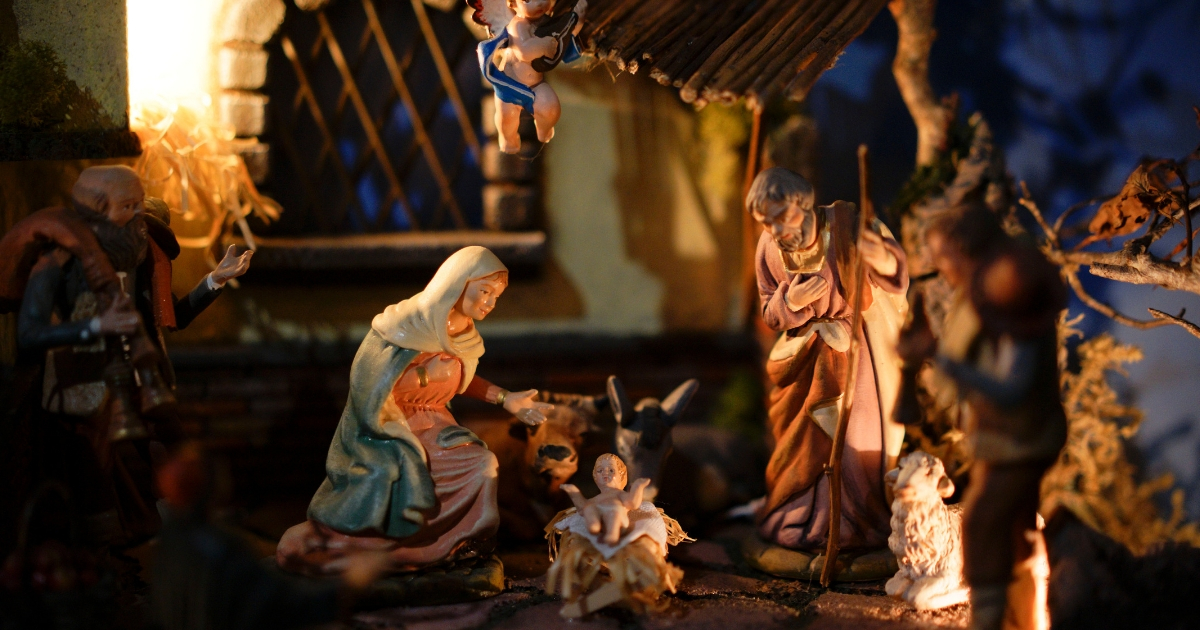 """A detail of a traditional Italian nativity scene is displayed at the """"100 Presepi"""", 100 nativity scenes exhibition, in Rome, Nov. 23, 2017."""