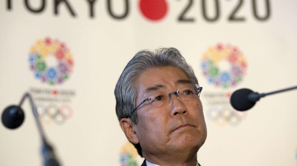 Tsunekazu Takeda, president of the Tokyo 2020 Olympic games bid, listens to a question from the media during the first international presentation of the Tokyo 2020 Olympic Games bid in London on Jan. 10, 2013. France's financial crimes office says International Olympic Committee member Takeda is being investigated for corruption related to the 2020 Tokyo Olympics.