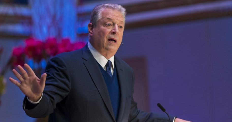 Former U.S. Vice President Al Gore and 2007 Nobel Peace Prize winner speaks at the Nobel Peace Prize Forum on Dec. 11, 2018.