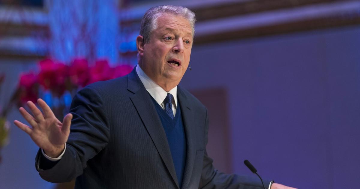 Former U.S. Vice President Al Gore and 2007 Nobel Peace Prize winner speaks at the Nobel Peace Prize Forum on Dec. 11, 2018.